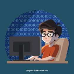 Junge vor Computer