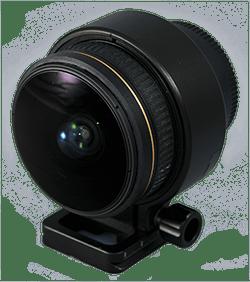 Nikkor 10,5mm (f2,8) fisheye - rasiert und mit Adaptierung für Nodal Ninja Ultimate R1