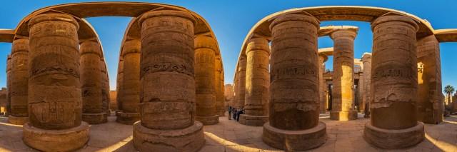 360°-Panorama in der Großen Säulenhalle im Karnaktempel in Luxor (Ägpten) - Bild 4