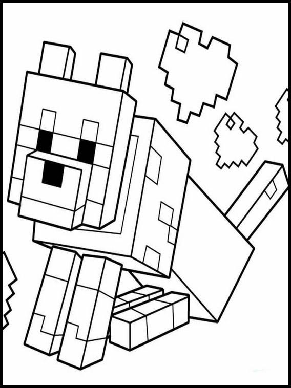 Ausmalbilder Drucken Minecraft