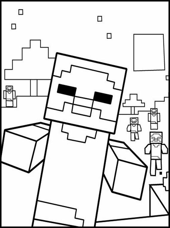 Minecraft Malvorlagen zum Ausdrucken 8