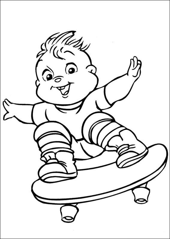 Malvorlagen Alvin und die Chipmunks für Kinder 4