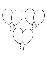 Ausmalbilde zum Ausdrucken Luftballons 11