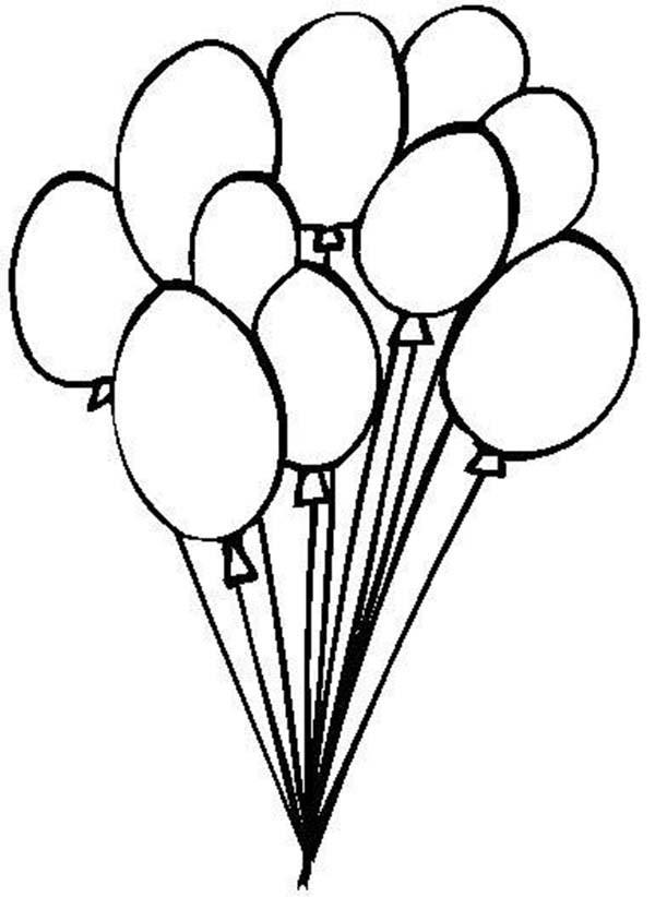 Luftballons Ausmalbilder für Kinder 8