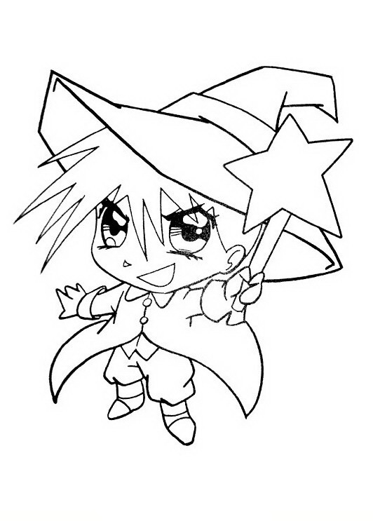 Ausmalbilder Kinder Manga 6