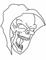 Schädel Ausmalbilder 16