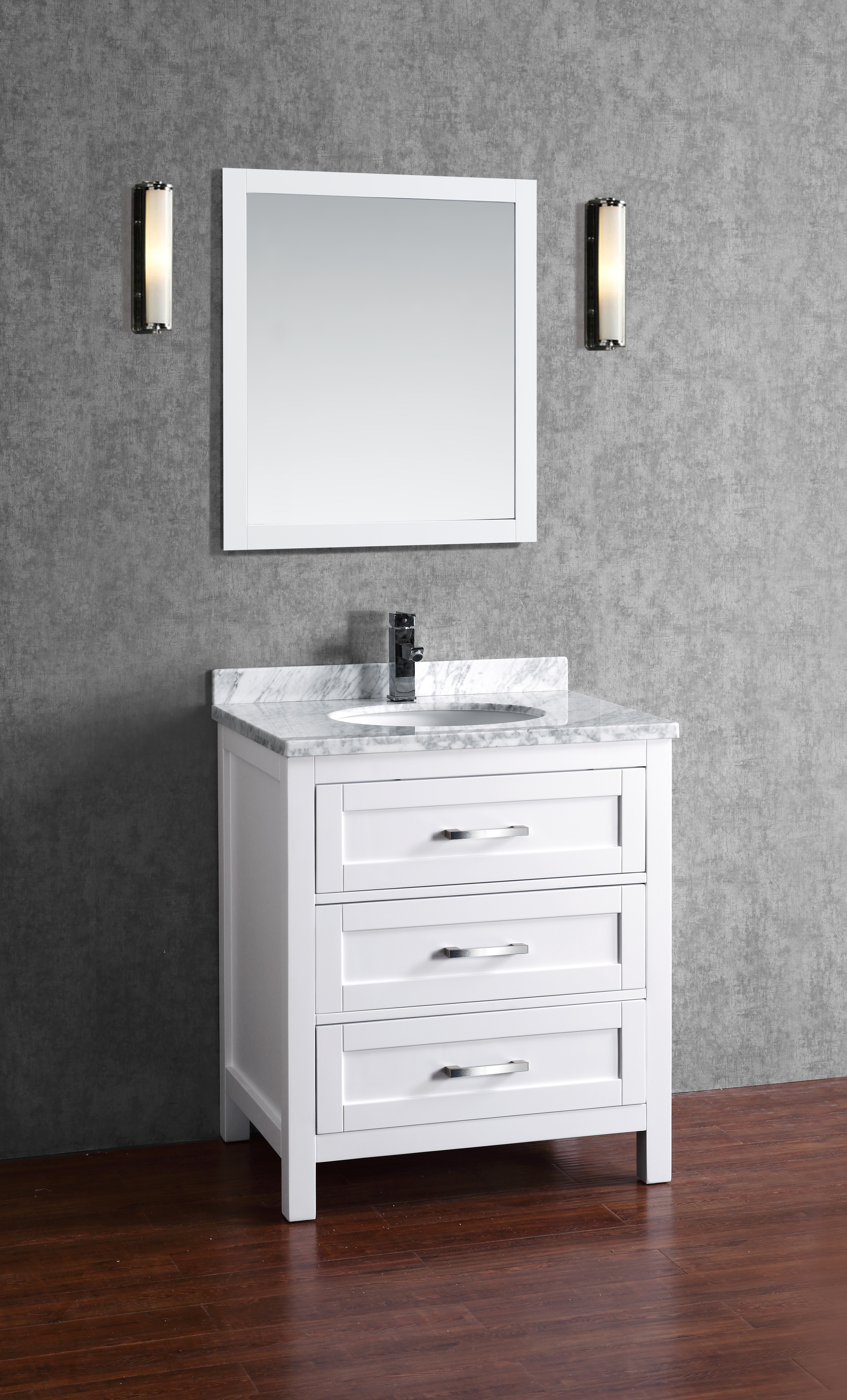 Toscana 30 Inch White Vanity  AK Trading Home Options