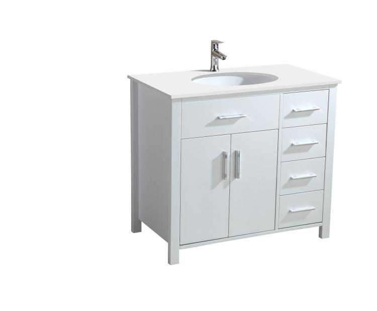 Dogwood 40 Inch White Vanity  AK Trading Home Options