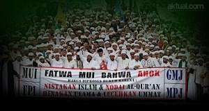 Ribuan Umat Islam Desak Polisi Segera Tangkap Ahok Gubernur Penista Agama. (ilustrasi/aktual.com)