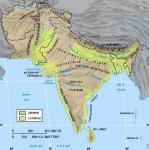 L'histoire de l'Inde, carte