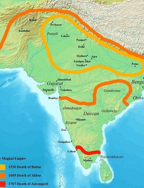 Empire moghol, Mughal empire, India, Inde, histoire, history