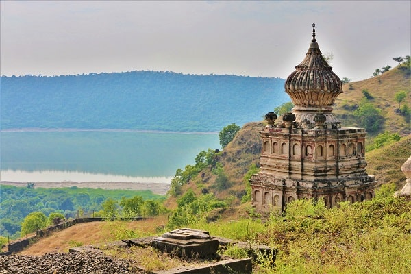 Gomukh temple, Lonar lake, entrance of wildlife sanctuary, entréé de la réserve naturelle