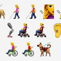 Wheelchair Emoji Gold Chair Rental Disability Apple Proposes Range Of