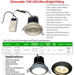 Wiring Diagram For Led Downlights Profibus Pa 10v Dimming Downlight Photocell