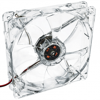 Fan 120mm 3-pin 4 LED red AW-12B-BR