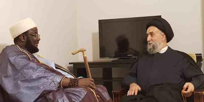 الامين   المستشار الخاص للرئيس السنغالي زار العلاّمة السيد علي الأمين