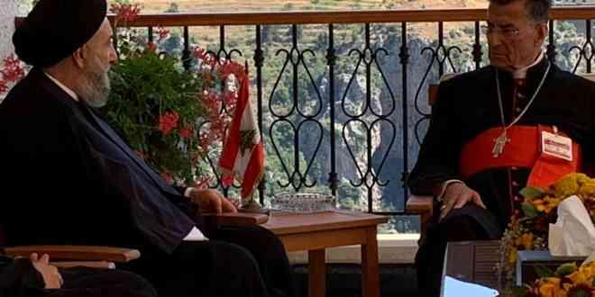 سماحة العلاّمة السيد علي الأمين يلتقي الكاردينال البطريرك الراعي في الديمان IMG-20200722-WA0039