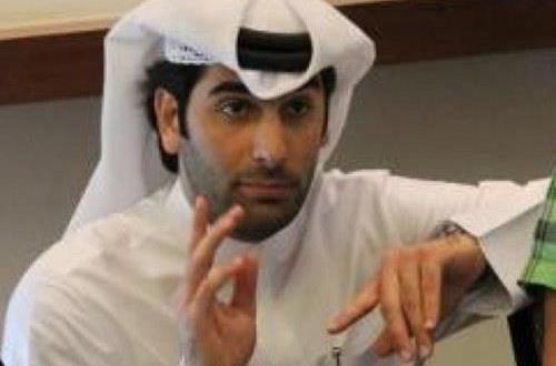اللاعب والمحامي الشاب الاستاذ سلمان بن احمد الانصاري  رئيس الرابطة القطرية للاعبين