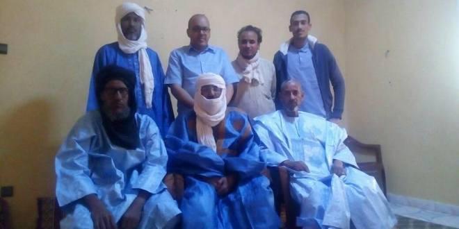 لقاء مدير بوابة الانصار العالمية مع عائلة الحاج بلا الانصارية التنبكتية بموريتانيا (2)