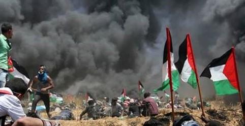 غزہ میں فلسطینی جلوس پر اسرائیلی فوج کی فائرنگ، 30 شہری زخمی