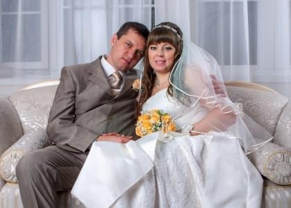 фотосессия в фотостудии свадебная фотография Владимира и Тамилы