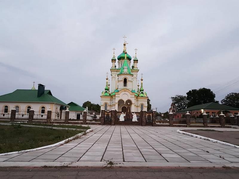 Храм в с. Карабинівка, павлоградський район, дніпропетровська область.