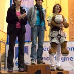 Podium seniors dames (Coupe du Rhône d'escalade - Anse)
