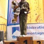Podium maîtres dames (Coupe du Rhône d'escalade - Anse)