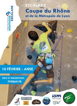 Affiche de l'étape Ansoise de la coupe du Rhône d'escalade 2019