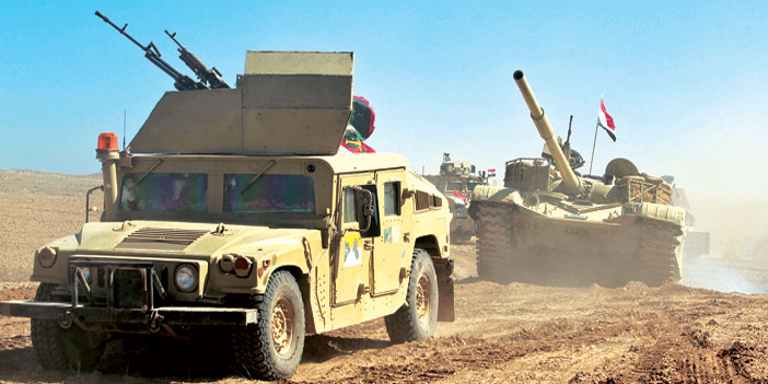 Iraqi forces were continuing an advance west of Mosul to fight Daesh