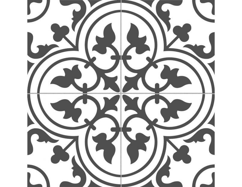 ledbury charcoal black pre cut 45cm x 45cm wall floor tile