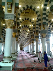 Another view from inside Masjid Al-Nabawi.