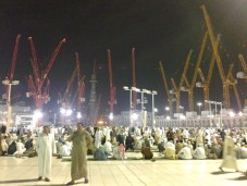 Lots of construction going on now to expand the capacity of the Grand Mosque of Mecca.