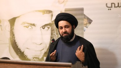 """كلمة السيد مرتضى السندي في حفل تدشين كتاب """"تأملات في الفكر السياسي"""" لسماحة المجاهد الشيخ زهير عاشور"""