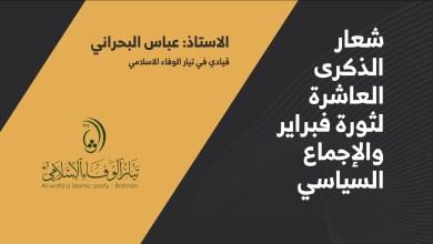 عباس البحراني: عقد من الثبات يفتح الباب لصياغة مشروع سياسي مشترك لقوى المعارضة
