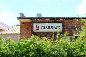 The rear of the D&L Pharmacy in Gilbertown, Choctaw County. The pharmacy distributed 1.3 million opioid pills between 2006 and 2012.