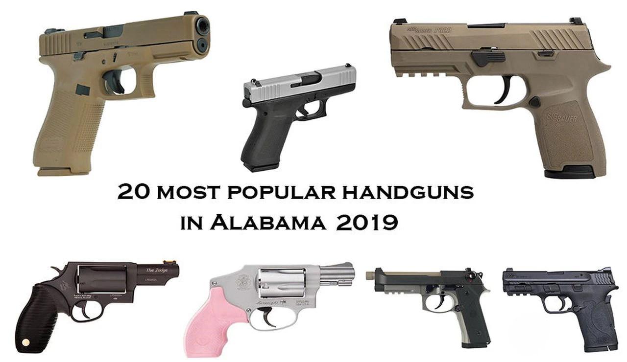 20 most popular handguns