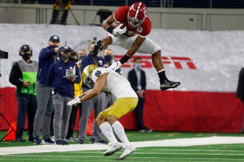 Alabama's Najee Harris just executed his best hurdle ever vs. Notre Dame; Nick Saban reacts - al.com