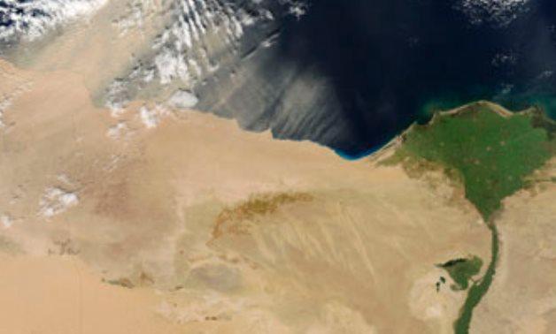 نهر النيل يعبر الصحراء الكبرى- CC عبر Oddizzi