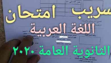 الآن ننشر تسريب الحل والإجابة على امتحان اللغة العربية لثانوية 2021 شاومينج برقية