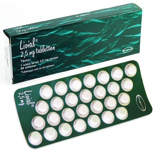 أقراص Livial الهرمونية البديلة للنساء لعلاج أعراض ما بعد سن اليأس لدى النساء