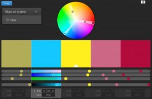 اختر الألوان المتجانسة