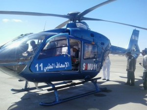 المروحية الطبية لوزارة الصحة تنقل رضيعا في حالة صحية حرجة من أزيلال الى مراكش