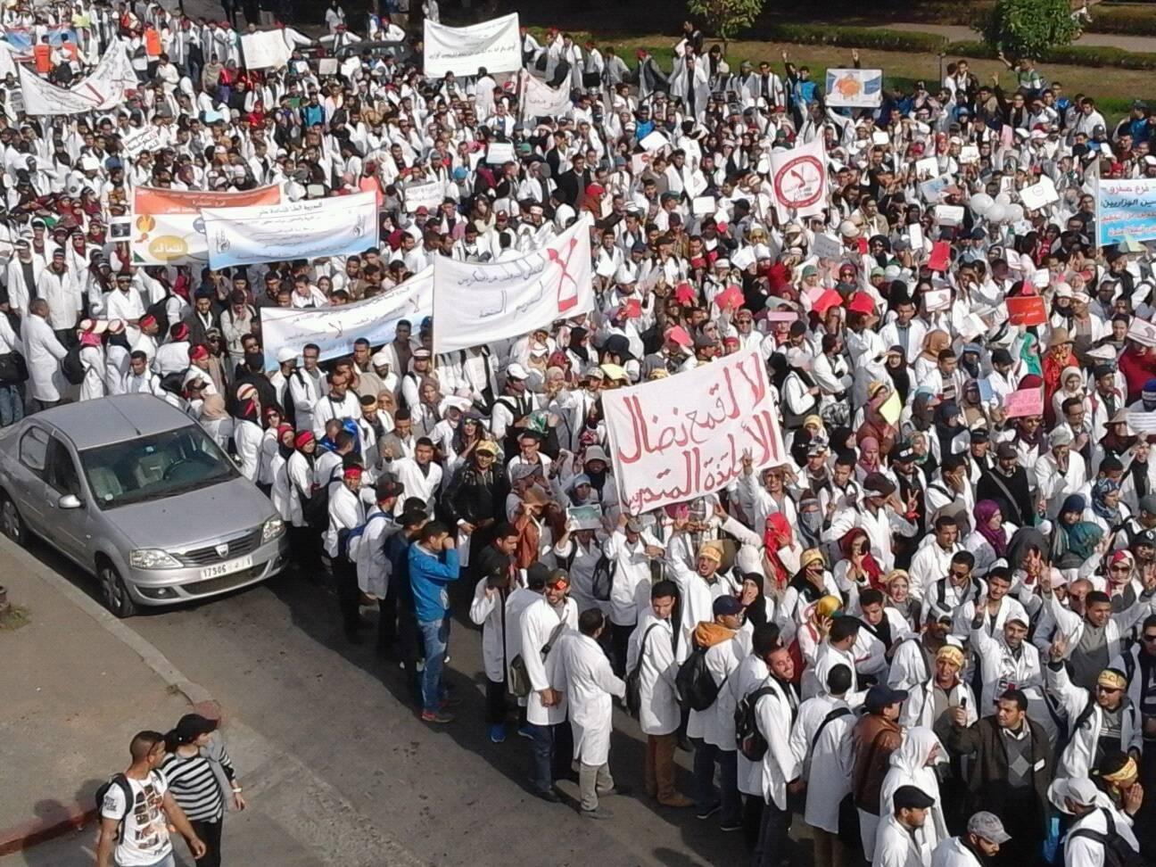 الأساتذة المتدربون يصعدون ويدخلون في إضراب عن الطعام