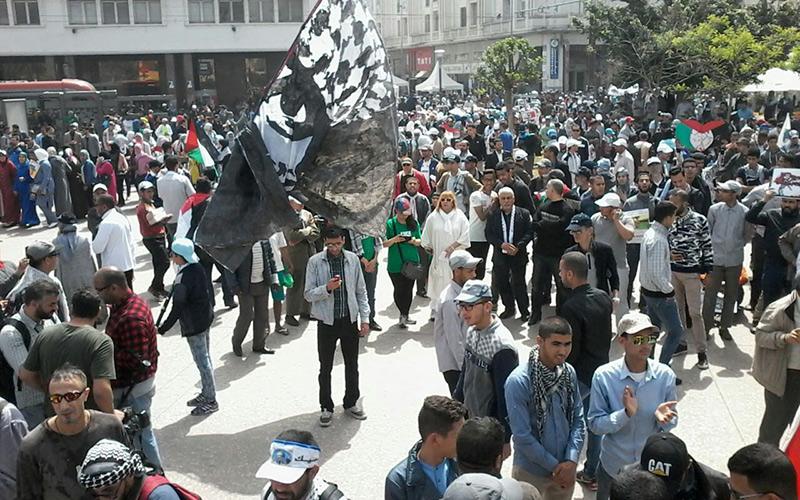 """الدار البيضاء: مسيرة حاشدة تخليدا للذكرى المئوية لوعد """"بلفور"""""""