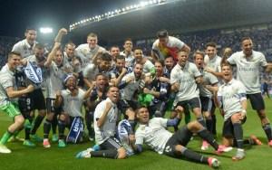 الريال يتوج بلقب الدوري الإسباني للمرة 33 في تاريخه