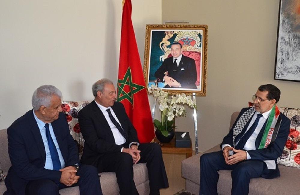 العثماني يتجاهل العدوان الإسرائيلي على غزة في لقاءه بنائب رئيس وزراء فلسطين