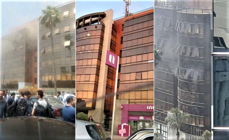 بالفيديو.. حريق ضخم يأتي على المقر المركزي لـ'انوي' ولا خسائر في الأرواح