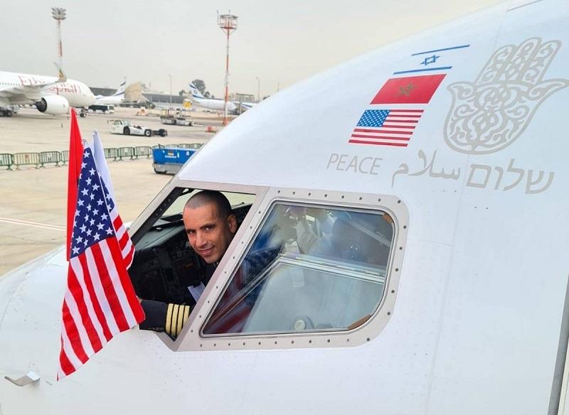 بالصور. تفاصيل إقلاع طائرة السلام من تل أبيب الاسرائيلية إلى الرباط