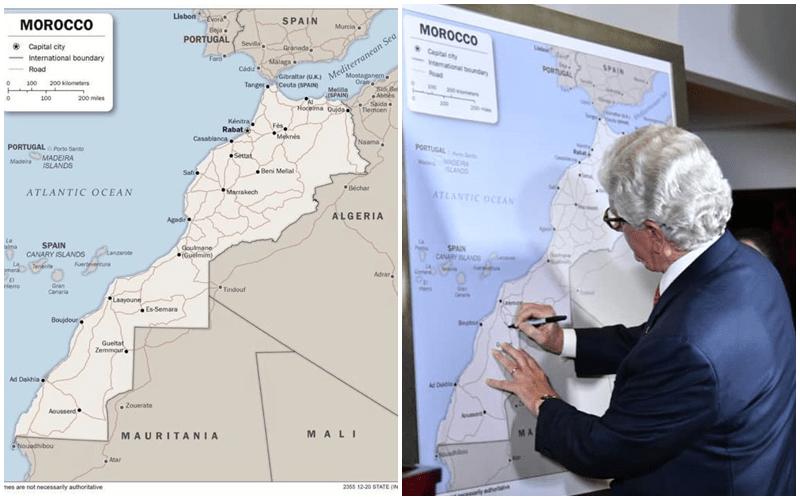 بالصور. أمريكا تعتمد رسمياً خريطة المغرب كاملة في إداراتها وسفاراتها عبر العالم